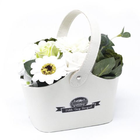 Pastel Green Soap Bouquet Petite Basket